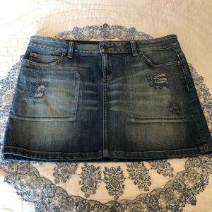 Victoria's Secret London Jeans Mini Skirt Denim 10
